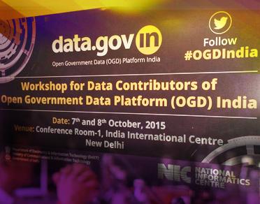 Banner of Workshop for Data Contributors of Open Data Government (OGD) Platform India