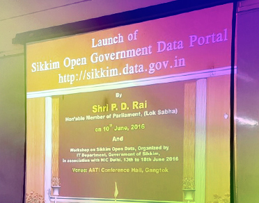 Banner of Launch & Workshop of Sikkim Open Government Data Portal