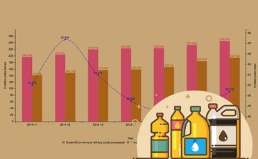 Consumption of Crude Oil, Natural Gas and Petroleum Products during 2010-11 to 2016-17