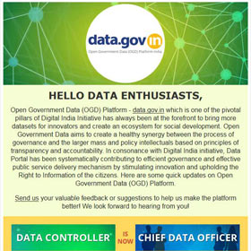 Open Government Data Platform India (data.gov.in) : Newsletter - July 2015