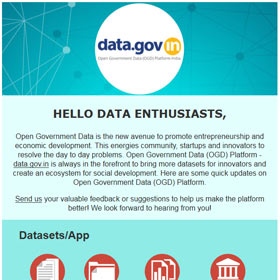 Open Government Data Platform India (data.gov.in) : Newsletter, June 2015