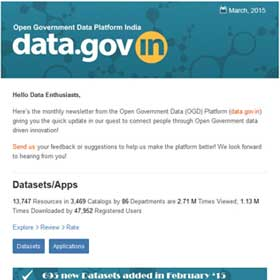 Open Government Data Platform India (data.gov.in) Newsletter