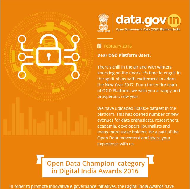 Newsletter - Government Open Data License released
